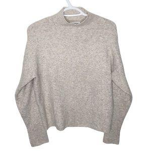 William Rast cozy plush oatmeal mock neck sweater size S